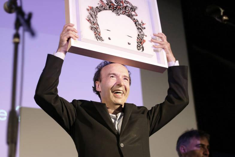 Premiazione di Benigni, Festival della Comunicazione, Camogli