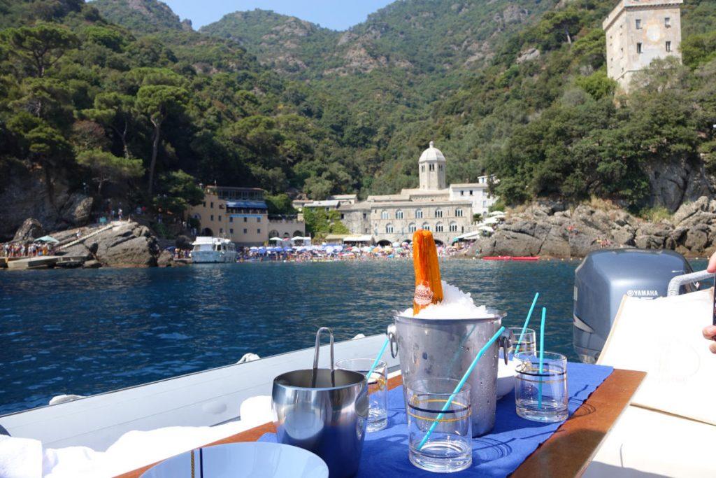 Aperitivo in barca a San Fruttuoso