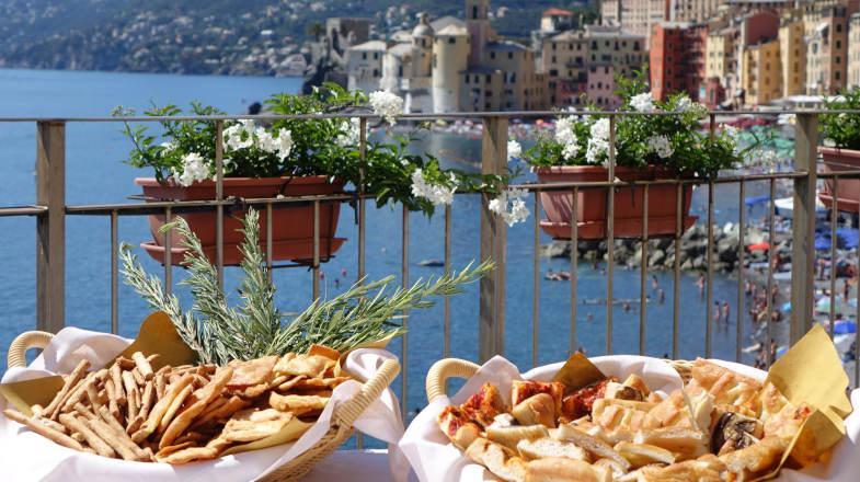 Buffet of genoese Focaccia, Hotel cenobio dei Dogi