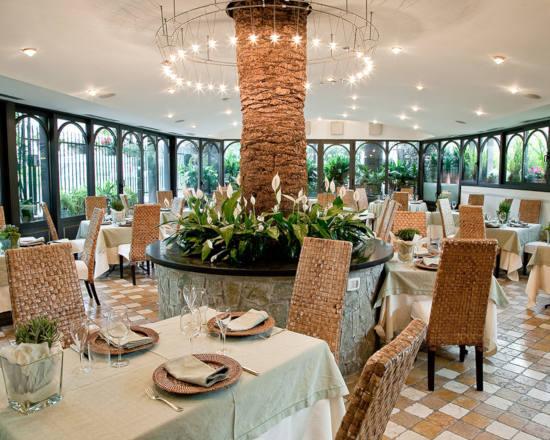 Sala del ristorante La Manuelina, Recco