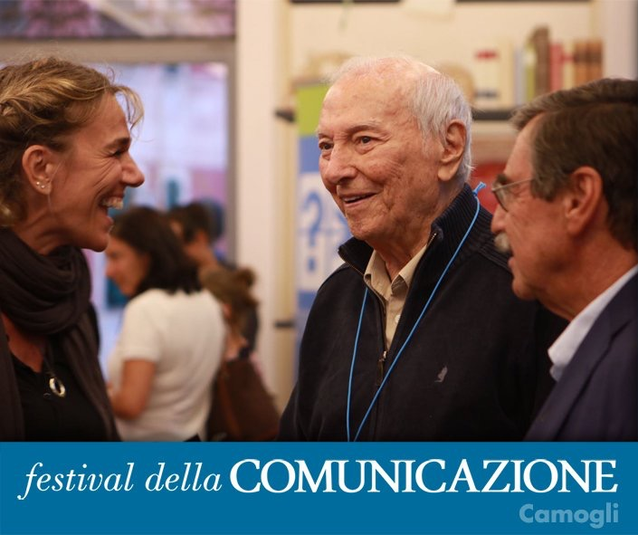 Piero Angela, one of the guest at the communication festival 2019