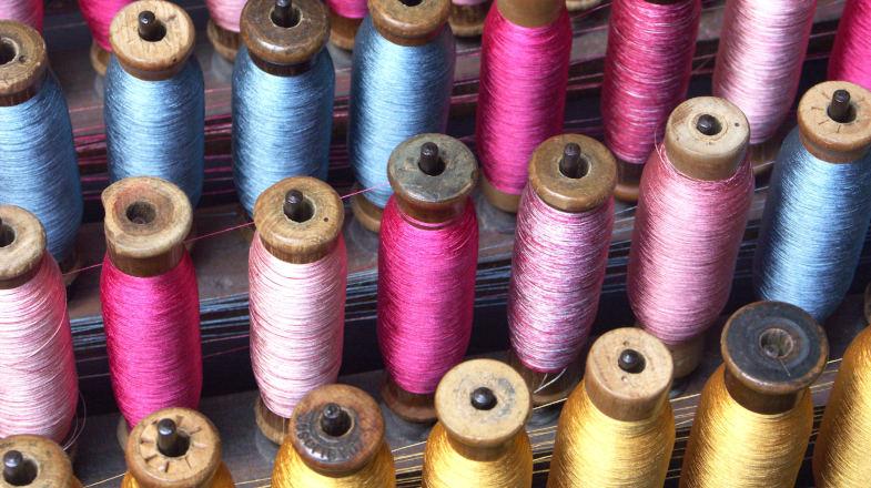 Rocchetti colorati, seterie Zoagli