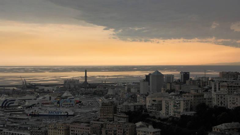 Genova sunset