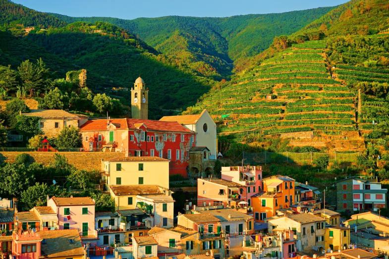 Terrazzamenti in Liguria per la coltivazione delle vigne